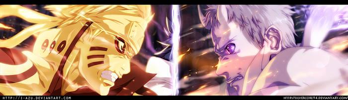 Naruto 651 - Naruto vs Obito (Collab) by i-azu