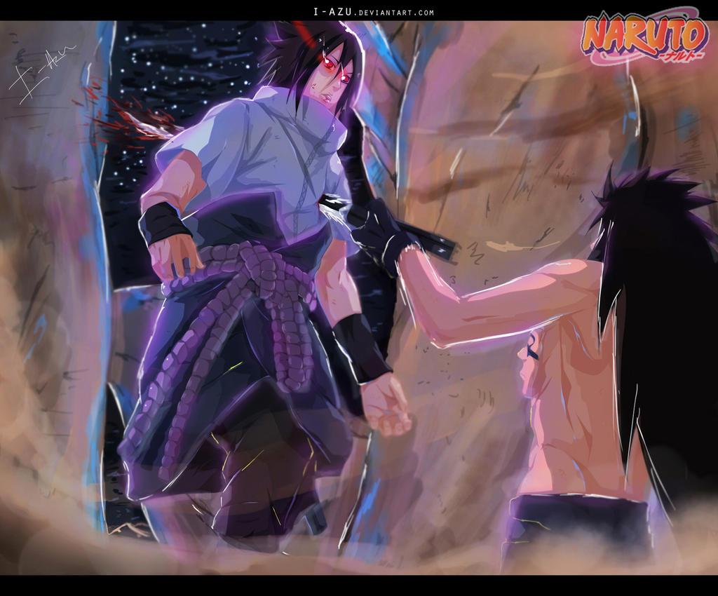 Naruto 661 - Sasuke stabbed by i-azu