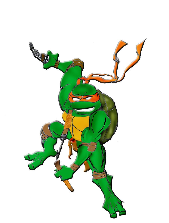 Ninja turtle michelangelo drawing - photo#19