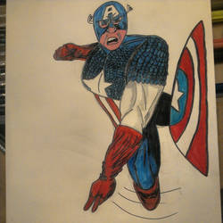 captain america shield throw by THEKID1717