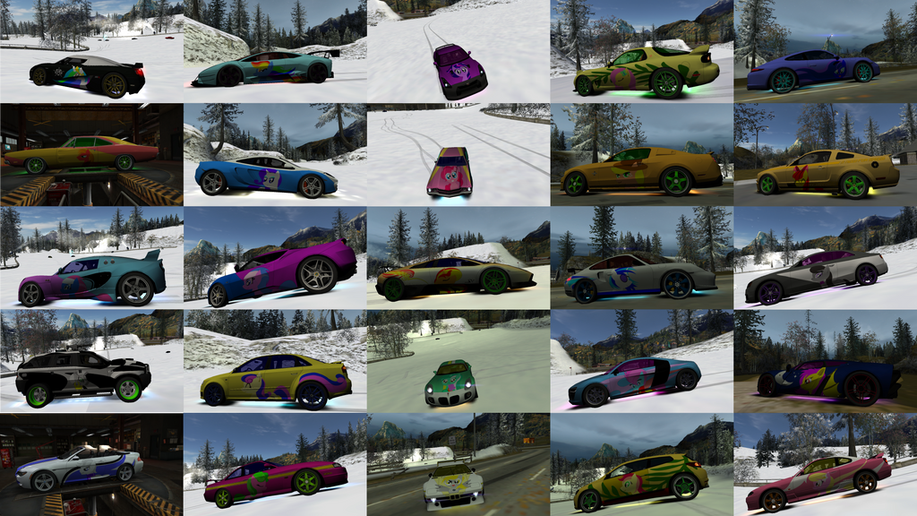 My Little Pony Need For Speed World All Cars By