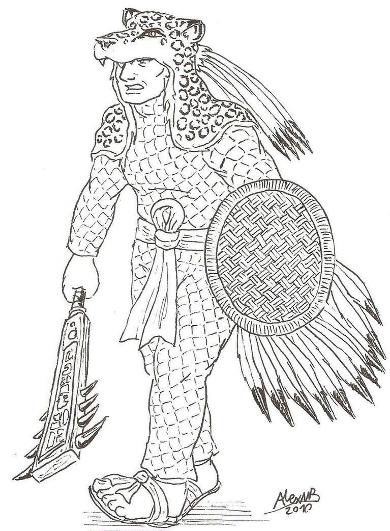 Aztec Warrior by Shabazik on DeviantArt  Aztec Pencil Drawings