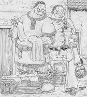 Orc merchants by Shabazik
