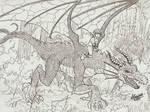 Dragon and elf slave girl
