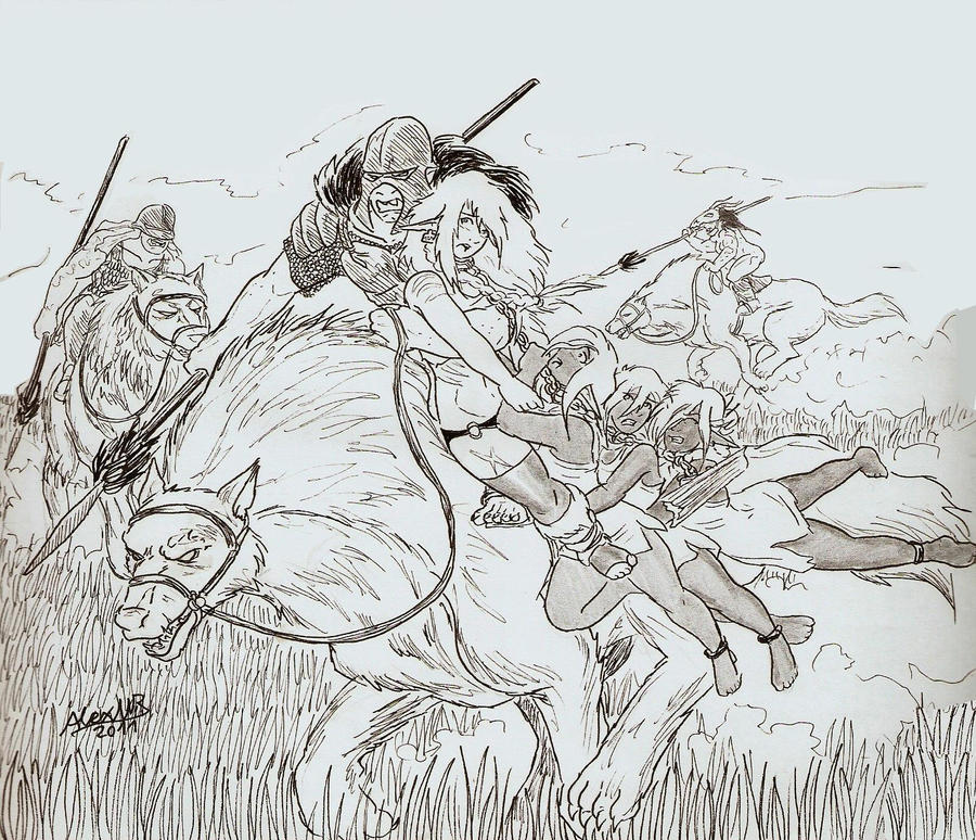 Warg riders by Shabazik on DeviantArt Warg Riders Drawings