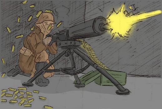 Krakavian Machinegun by Shabazik