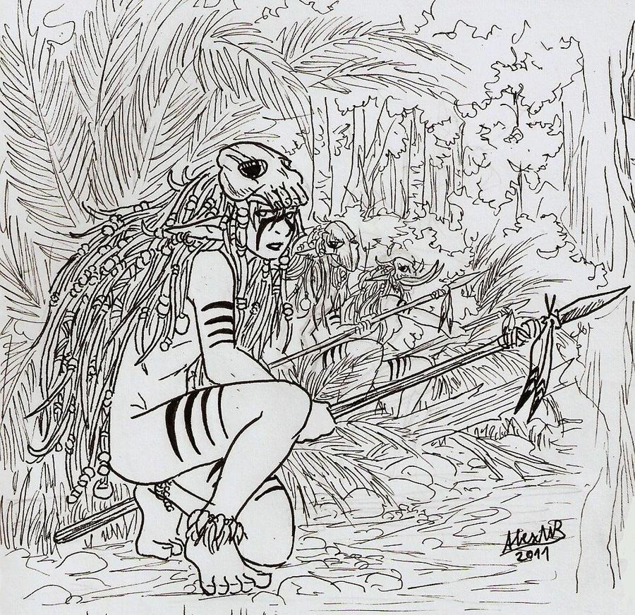 http://img07.deviantart.net/f0aa/i/2012/002/0/e/feral_elf_ogre_hunter_by_shabazik-d4kjmg7.jpg