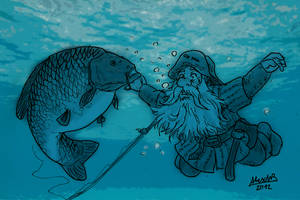 Carp and Dwarf by Shabazik