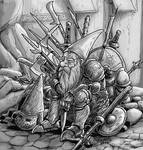 Old dwarf warrior by Shabazik