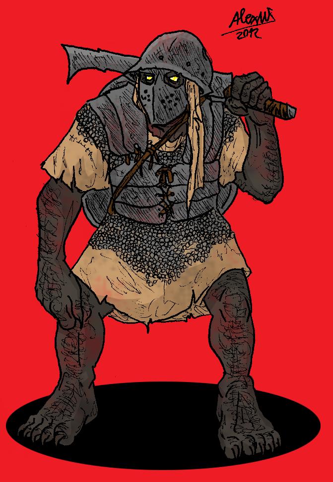 Orc swordorc by Shabazik