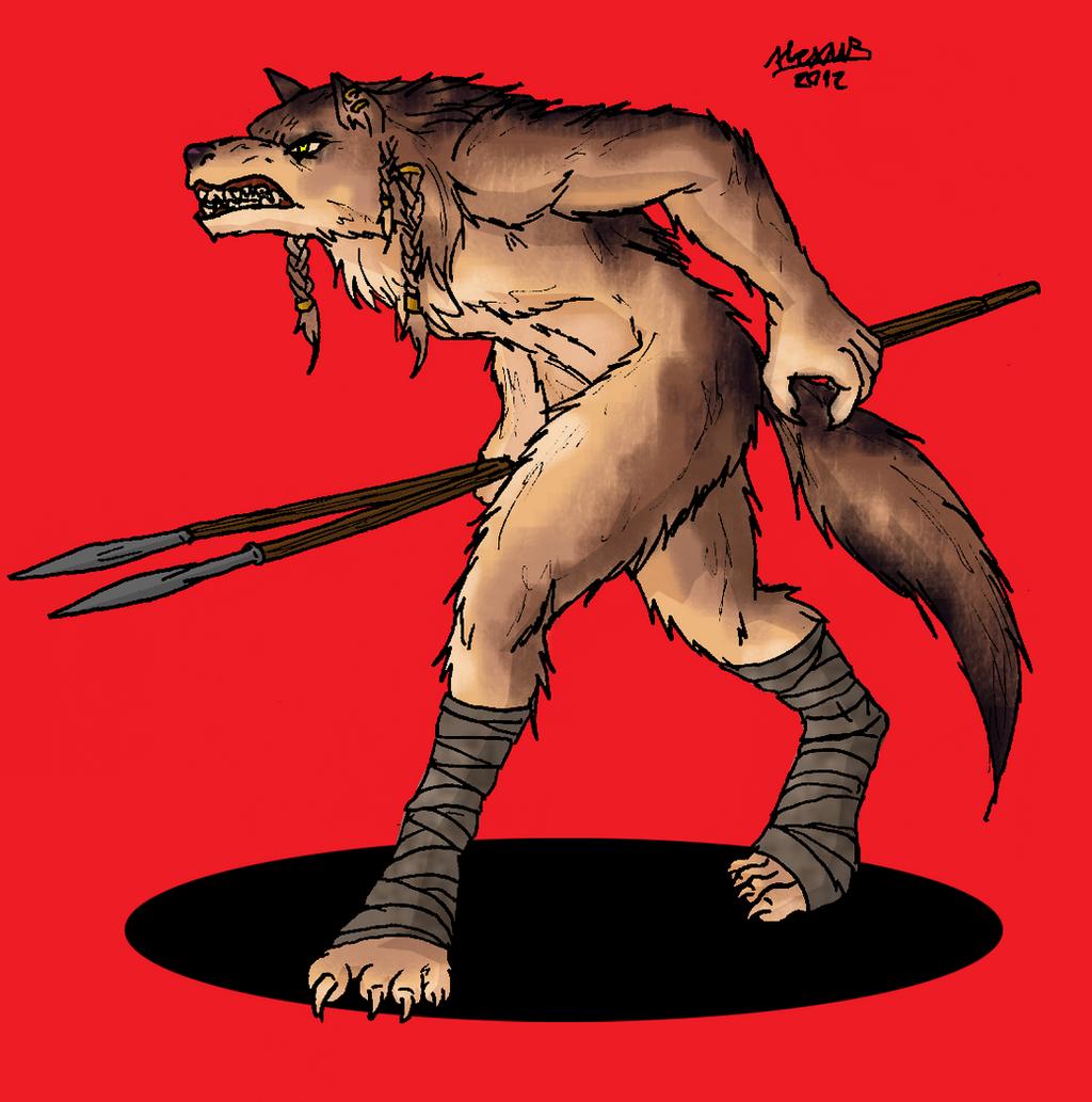 Werewolf warrior by Shabazik on DeviantArt Werewolf Warrior Art