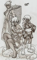 Drow commoners by Shabazik