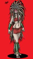 Human priestess of Brum by Shabazik