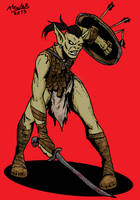 Hobgoblin swordgoblin by Shabazik