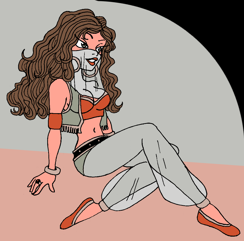 Old drawing - Harem Lady by Shabazik