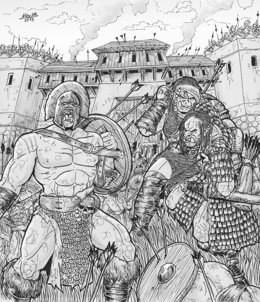 Orcs at the Gates! by Shabazik