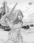 Lady of a Coastal Castle