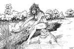 Manatee and Swamp Girl