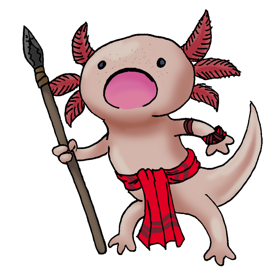 Axolotl Warrior by Shabazik
