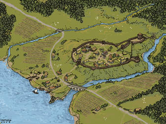 Motte and Bailey of Aelfsdreim by Shabazik