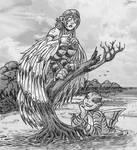 Harpy and Mermaid