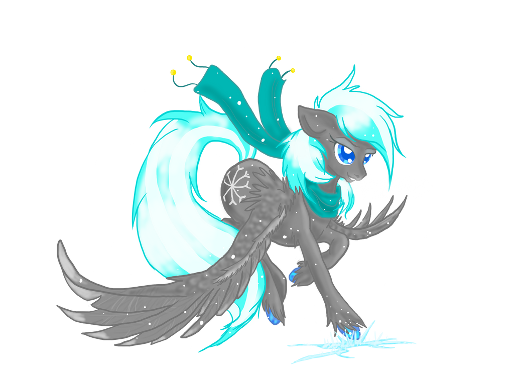 KyuFlake, The Winter Pegasus by KyuremGirl