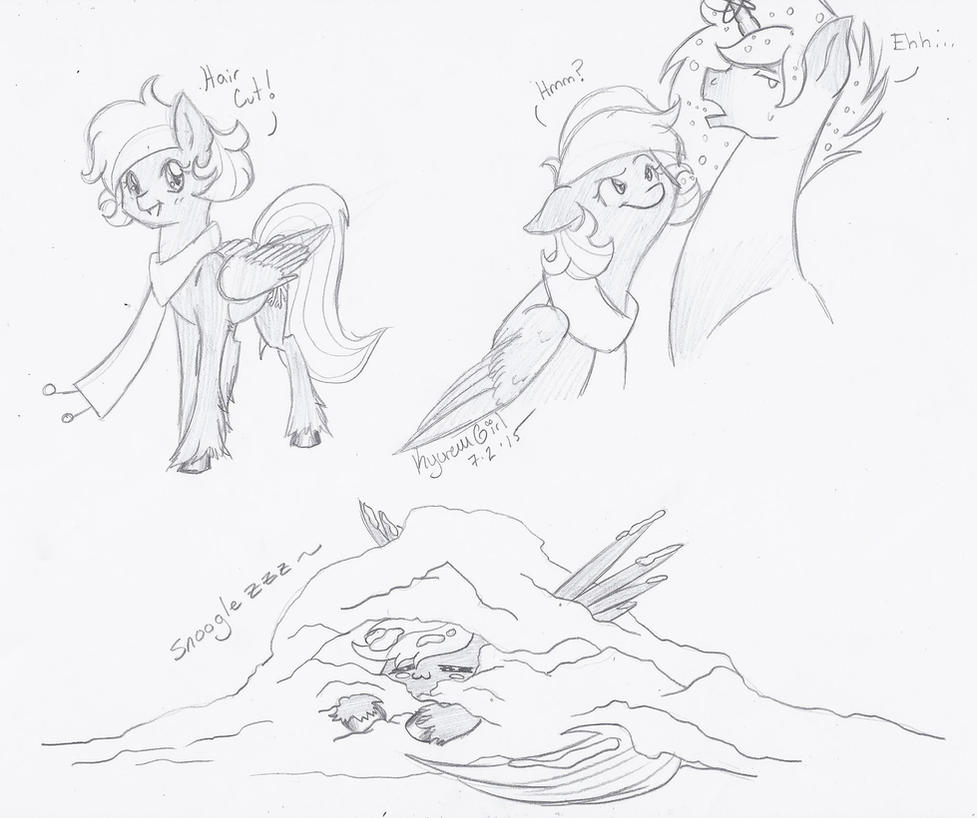 Sketches of some KyuFlake by KyuremGirl