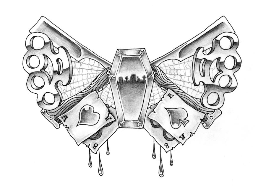 brass knuckle butterfly by gavzilla on deviantart. Black Bedroom Furniture Sets. Home Design Ideas
