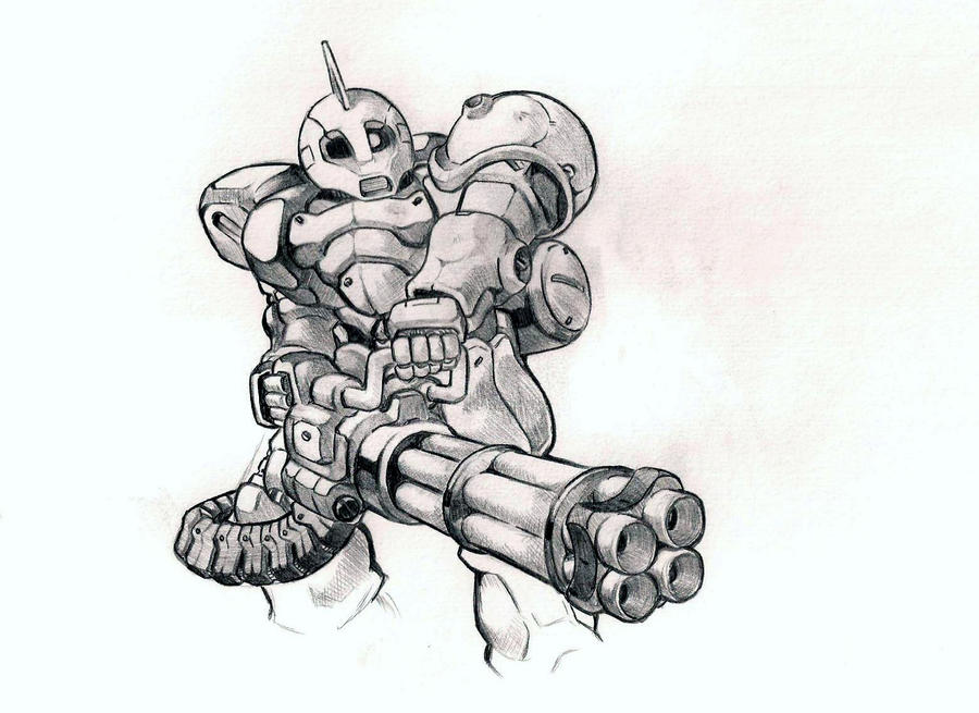 Zaku One by bluegender1