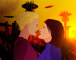 Janeway and Seven of Nine