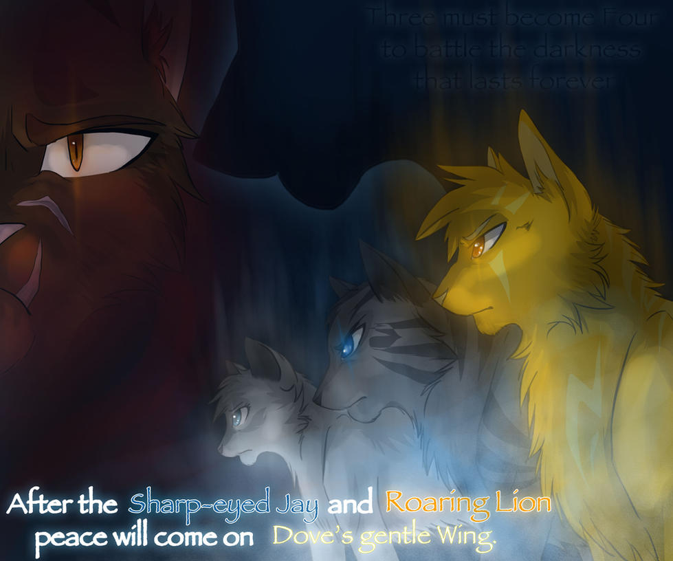 The power of three by riverspirit456 on deviantart The three cats