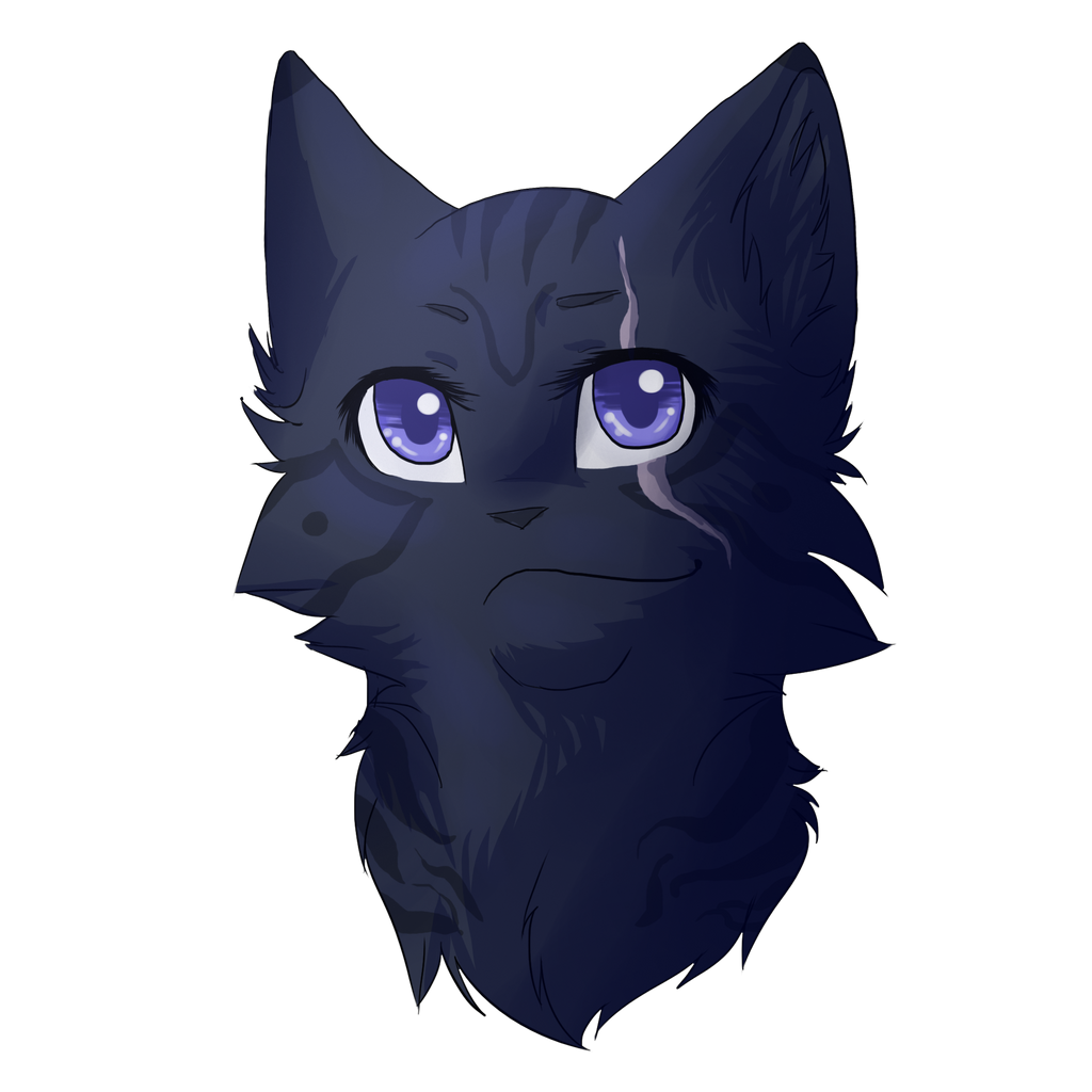 Blue Tribal Anime Cat