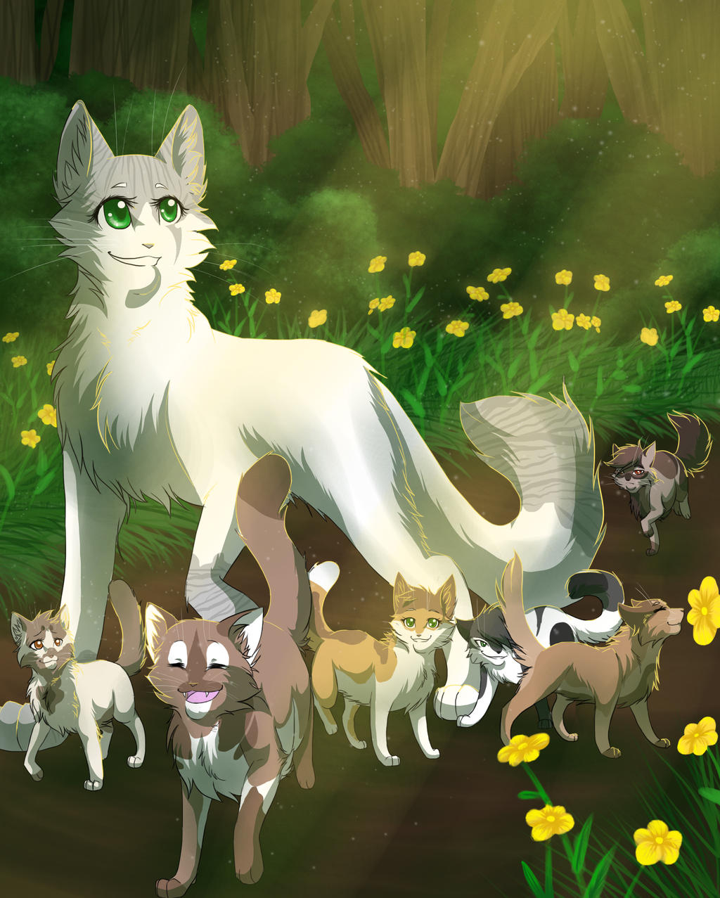 Warrior Cats Blossomkit Froststar And K...