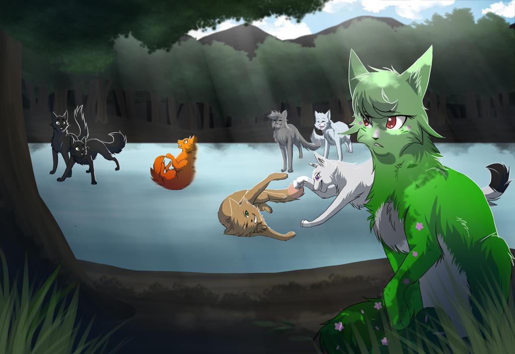 Warriors Cats Cinderpelt Watching by RiverSpiri...