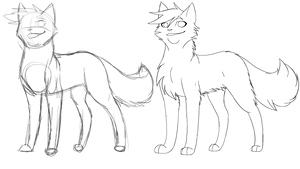 Apprentice LineArt - M/Long by RiverSpirit456
