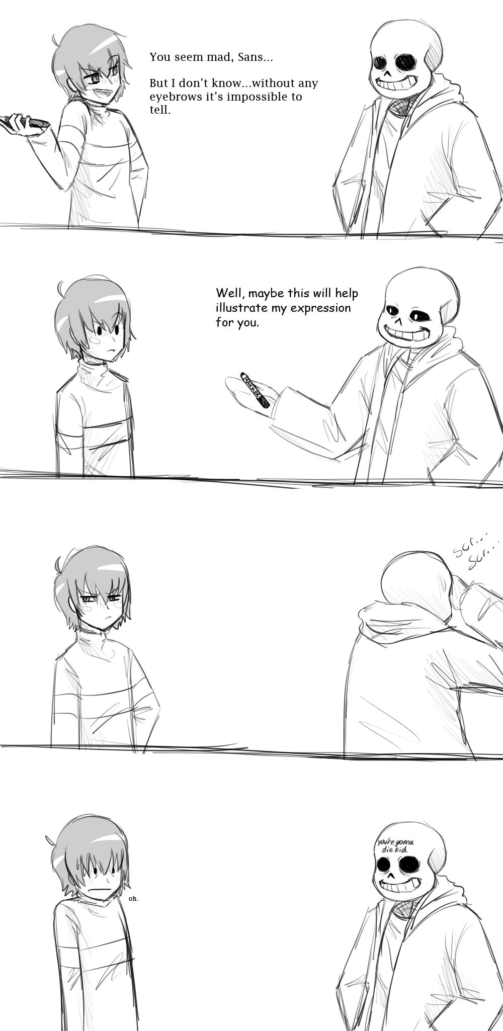 You Mad Bro? UT Short Comic by RiverSpirit456