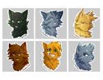 Warriors Stickers: 3