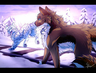Along Icy Tracks by RiverSpirit456