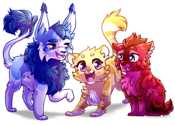 Friendly Trio :Chibi: by RiverSpirit456