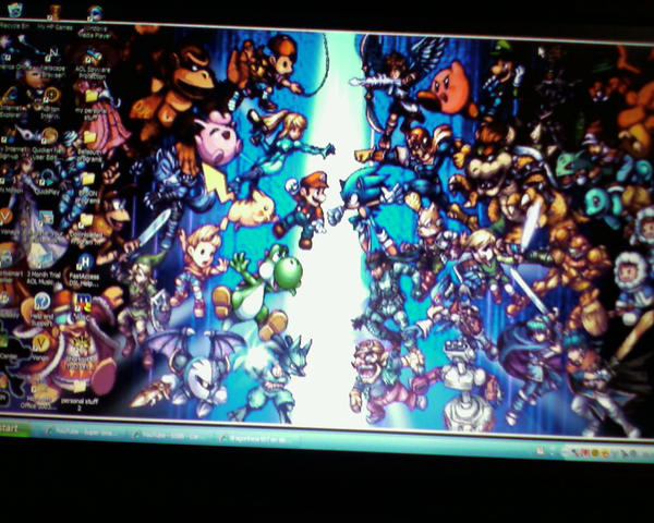 SSB Brawl Sprites Desktop by dragonheart07
