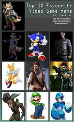 Top 10 Male Video Game Characters Meme