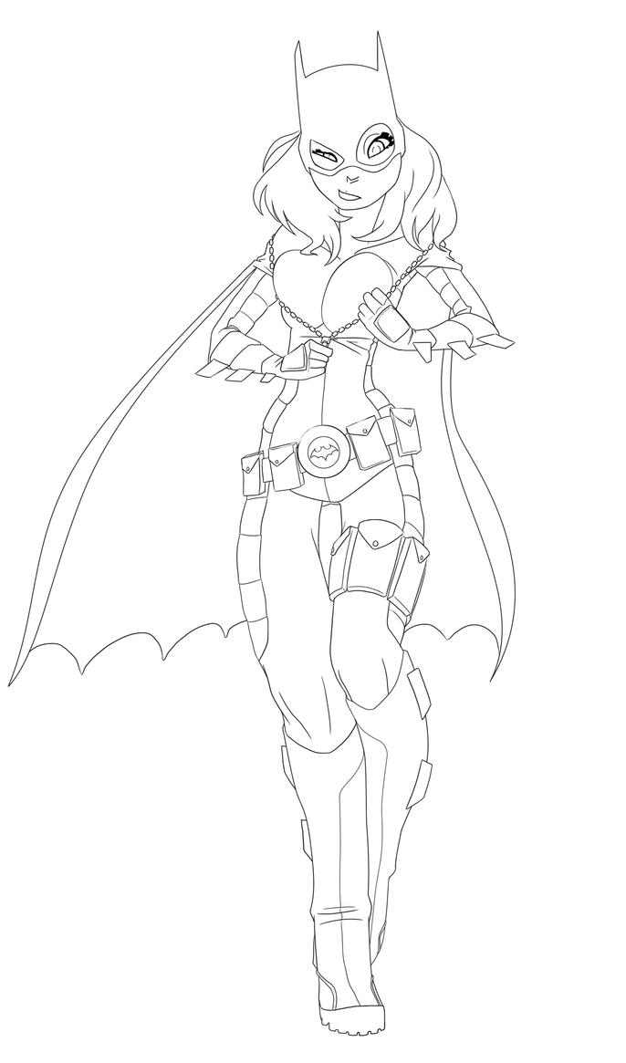 Batgirl Lines by Drunken-Novice