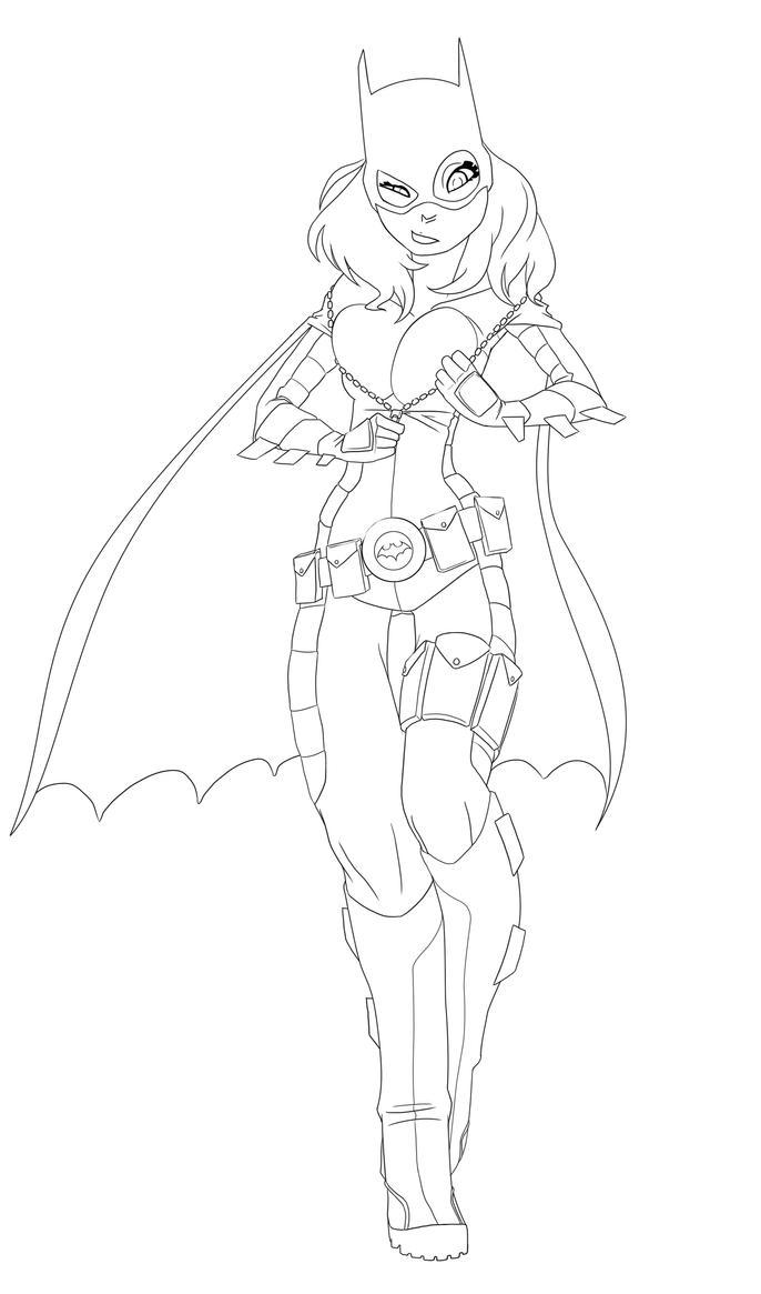 Batgirl Lines by Drunken-Novice