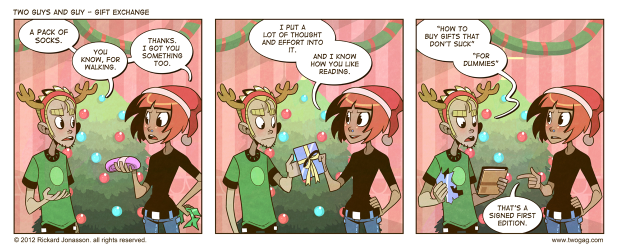 2GAG - Gift Exchange by Drunken-Novice