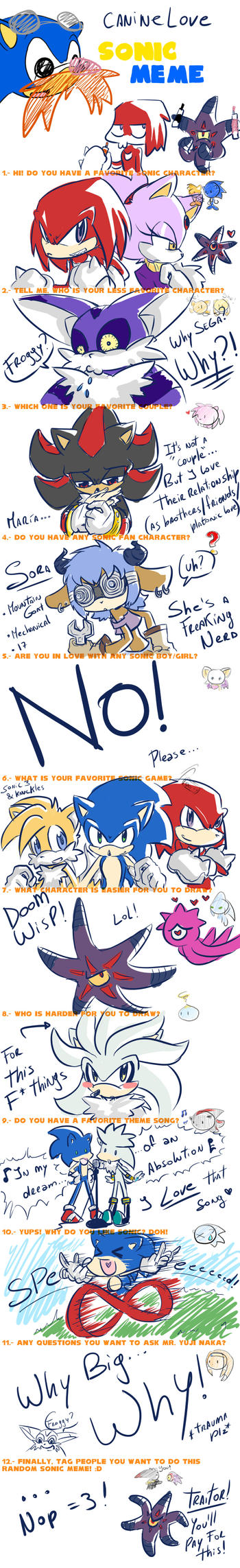Sonic Meme by caninelove