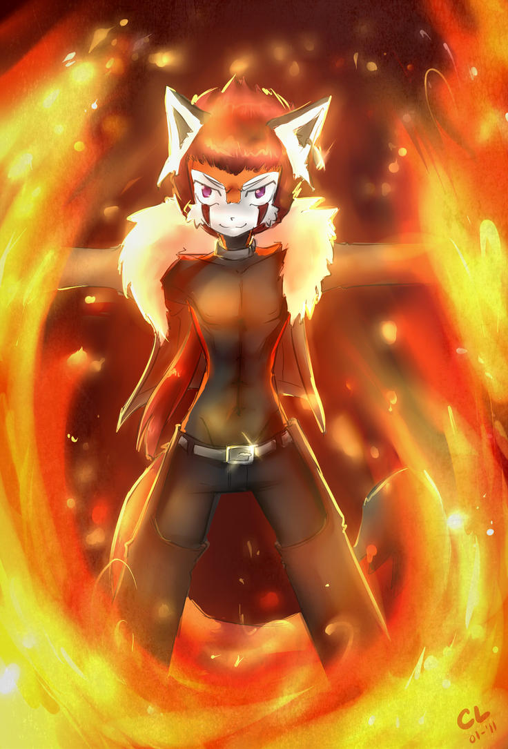 .:Fire Warrior:. by caninelove