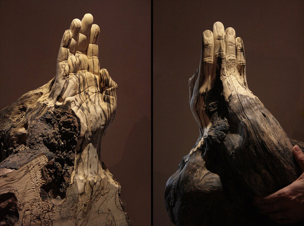 Wooden hand by soheyl
