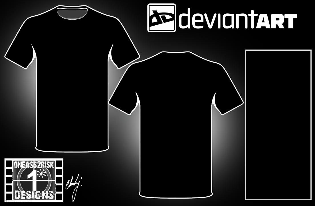 Blank black t shirt front and back - Black T Shirt Template Front And Back Da Blank Shirt Template I By Rclarkjnr