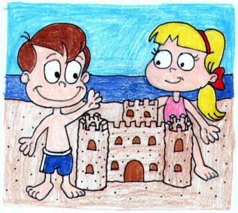 Loud and Charity sand castle by LoudKFan4