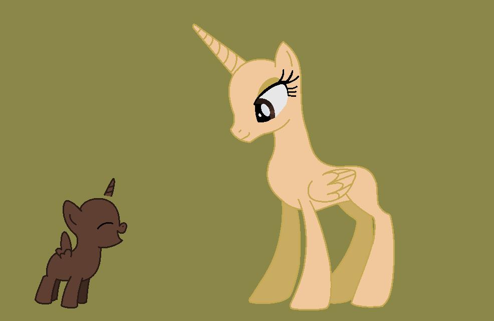 My Little Pony Filly Alicorn Base
